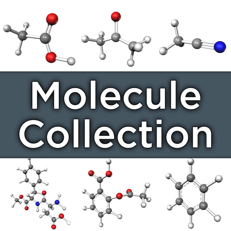 molecules acid 3d obj