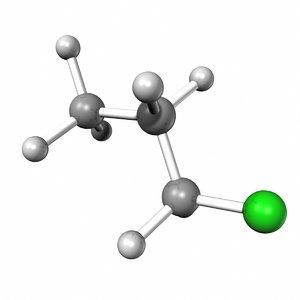 3d model propyl chloride