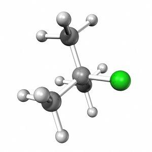 3d model t butyl chloride