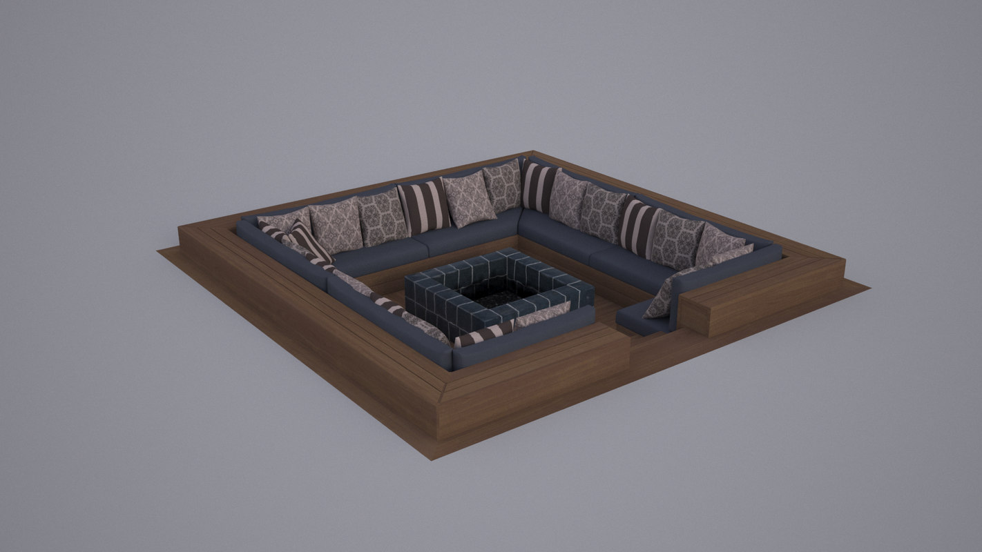 restaurant fireplace 3d model