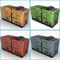 4 colors generator 3d max
