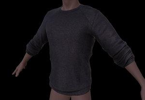 male shirt 3d obj