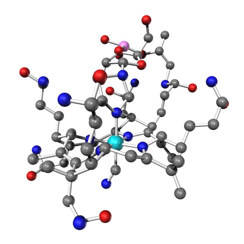 vitamin b12 3d model