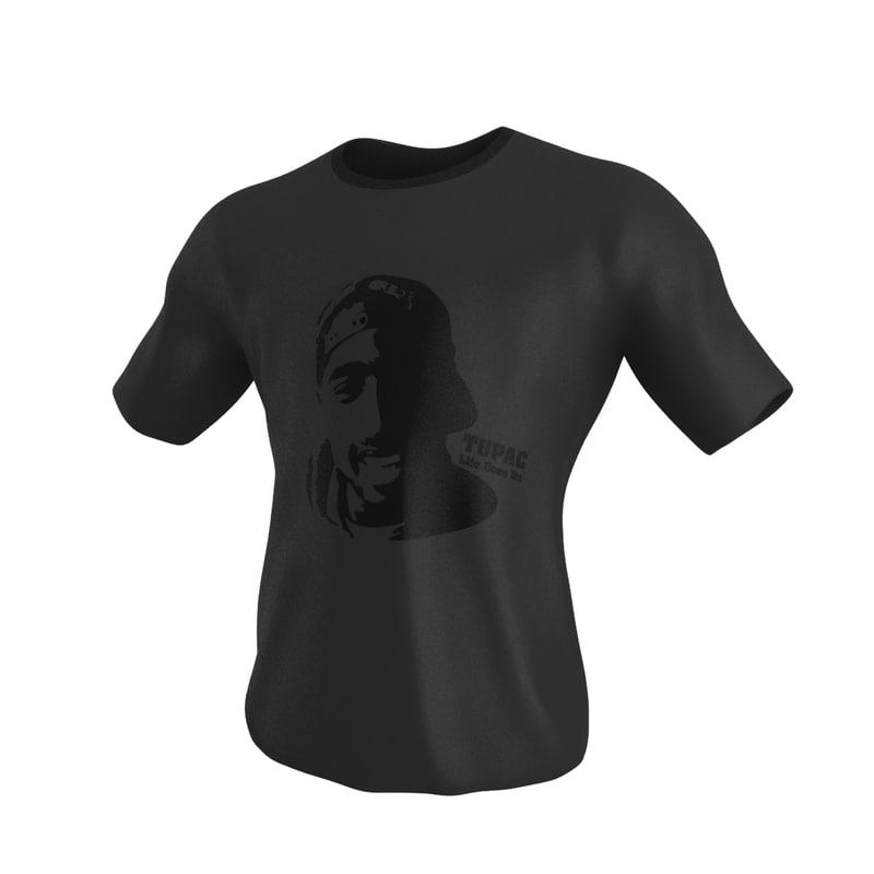 3d model of t shirt modeled
