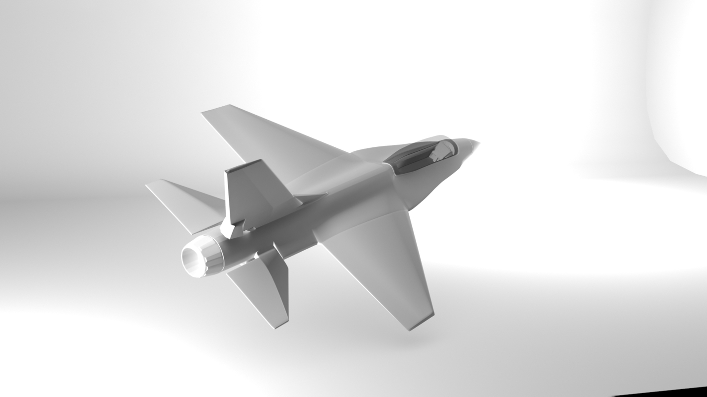 general dynamics fighter aircraft 3d max