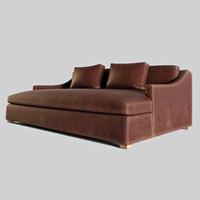 3d modern leather sofa model
