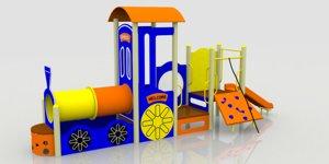 train playground kids 3d model