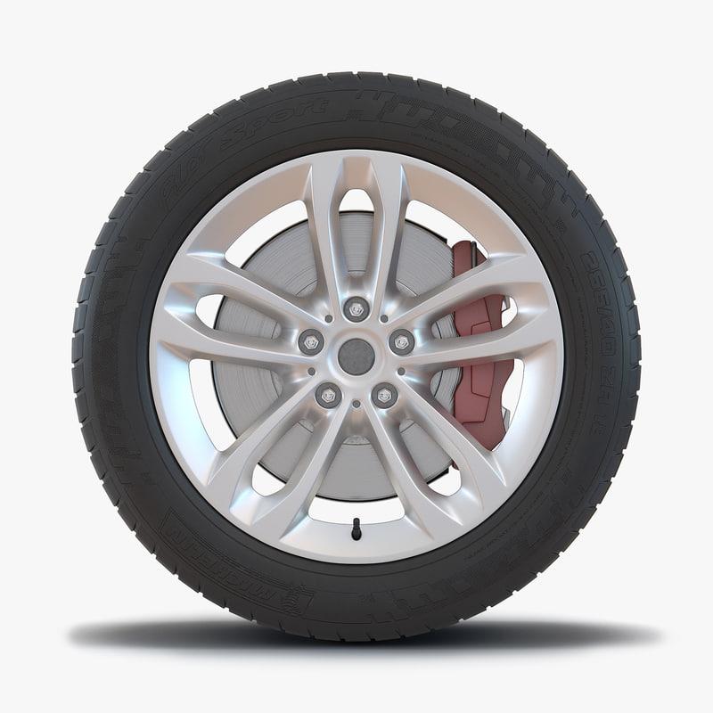 suv wheel 3d model