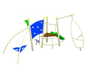 3d mini playground model