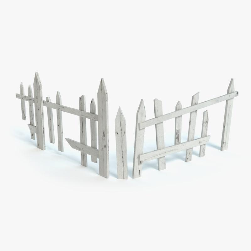broken fence obj