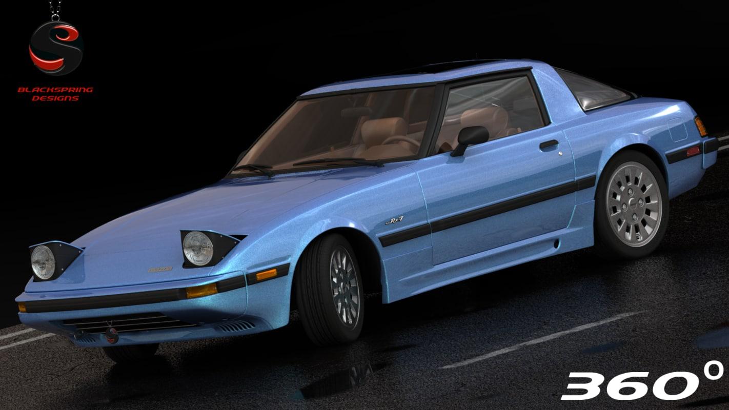mazda rx-7 1985 3d model