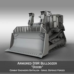 3d armored d9r bulldozer model