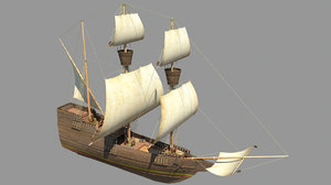spanish galleon 3d x