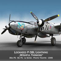 3d model lockheed lightning - wishful