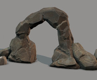 rock set ready - 3d model