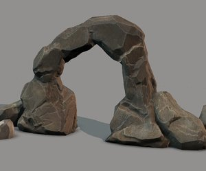 rock set ready - 3d model