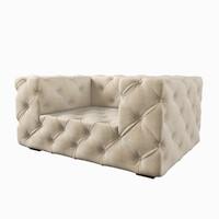 3d restoration hardware soho upholstered model