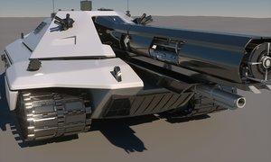 sci-fi tank concept 3d max