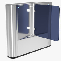 3d turnstile 1 model