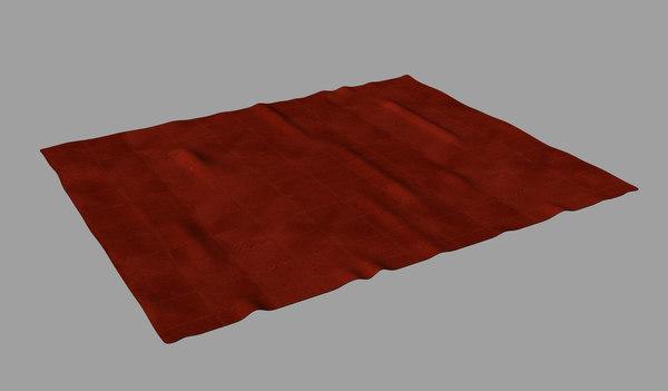 throw rug 3d obj
