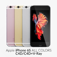 3d iphone 6s colors model
