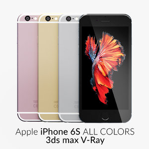 3d iphone 6s colors v-ray