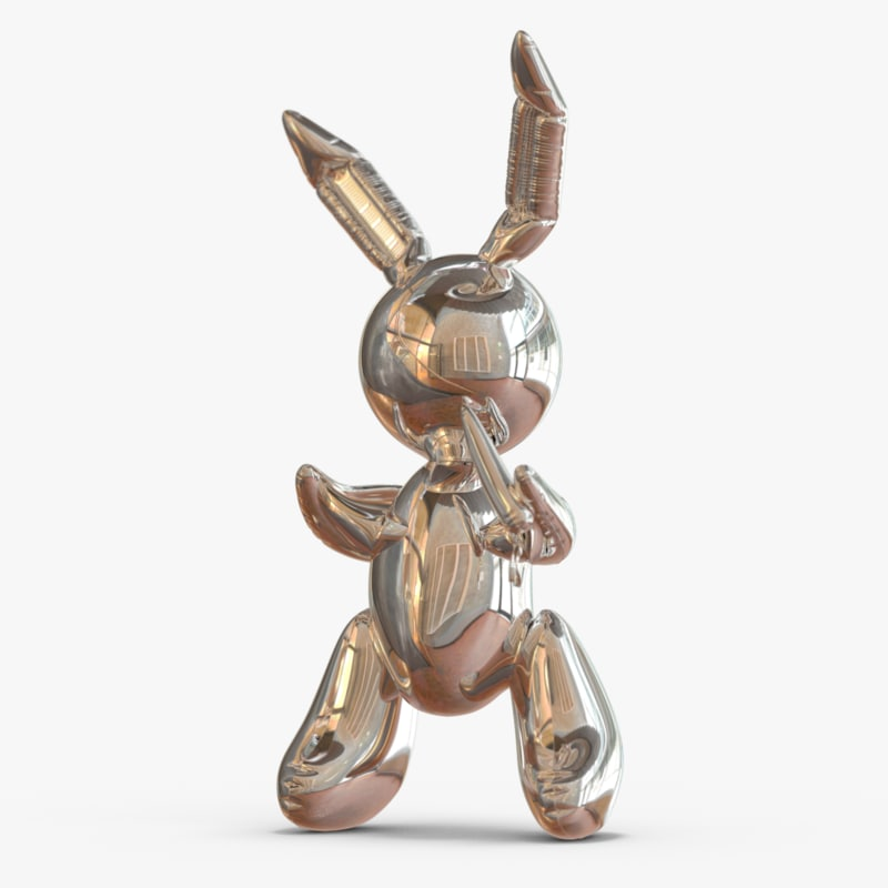 3d koons bunny model