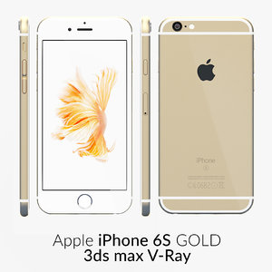 iphone 6s gold v-ray 3d max