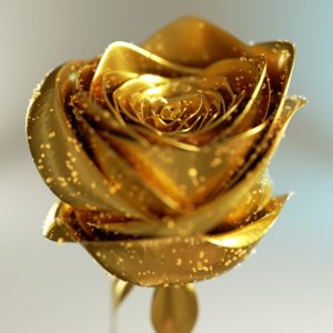obj golden rose