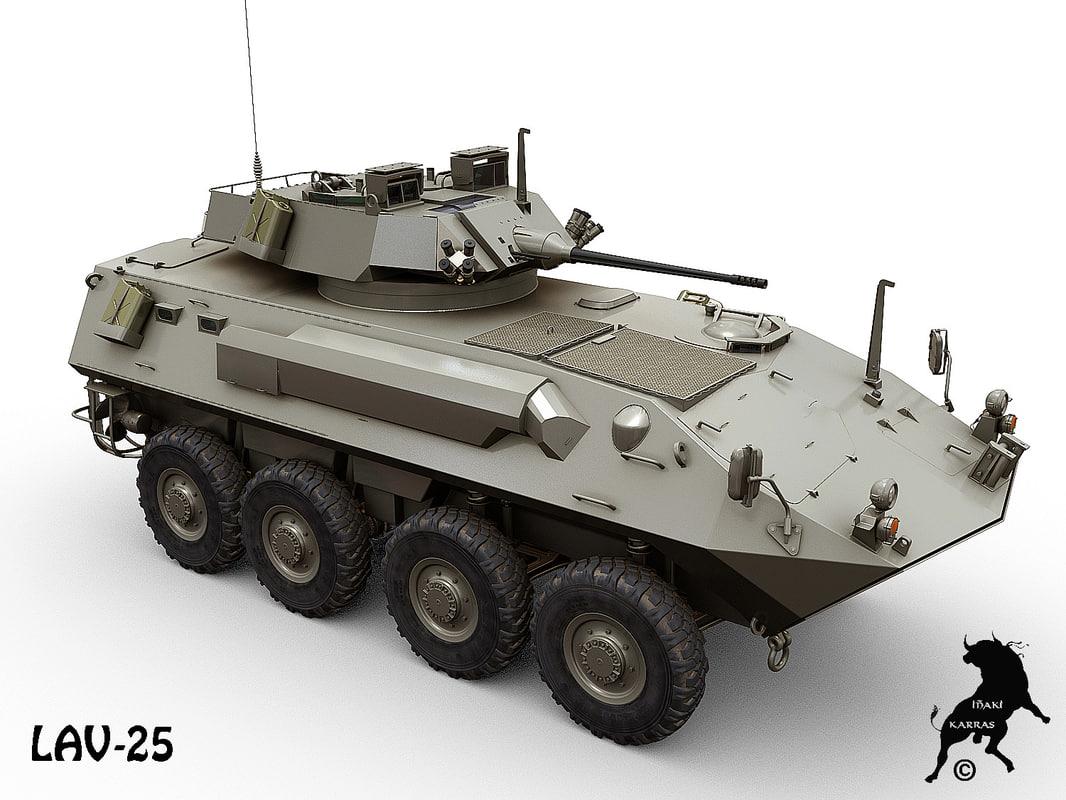 3d lav-25 canada mowag