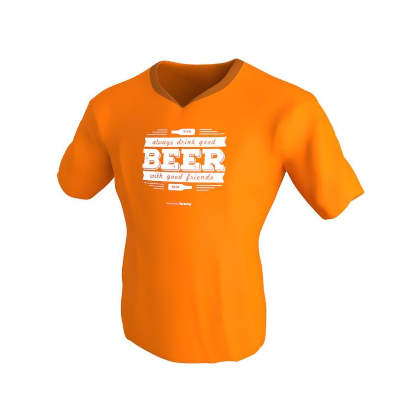 t shirt v3 modeled 3ds