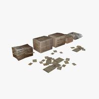 3d model paper boxes