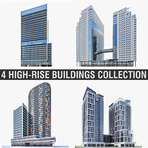 high-rise buildings 3d model