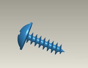 screws semicircular head 3d obj