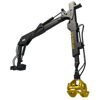 Forwarder Forestry Crane 3D Model