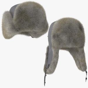 poses winter hat 03 3d model