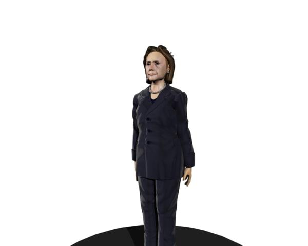 hillary clinton 3d model