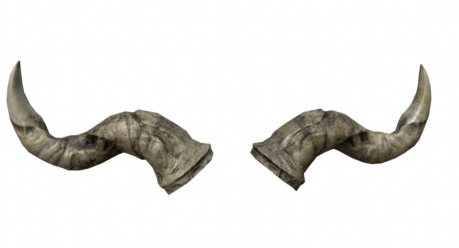 3d model ready horn