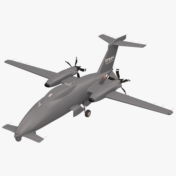 unmanned drone p 1hh 3d obj