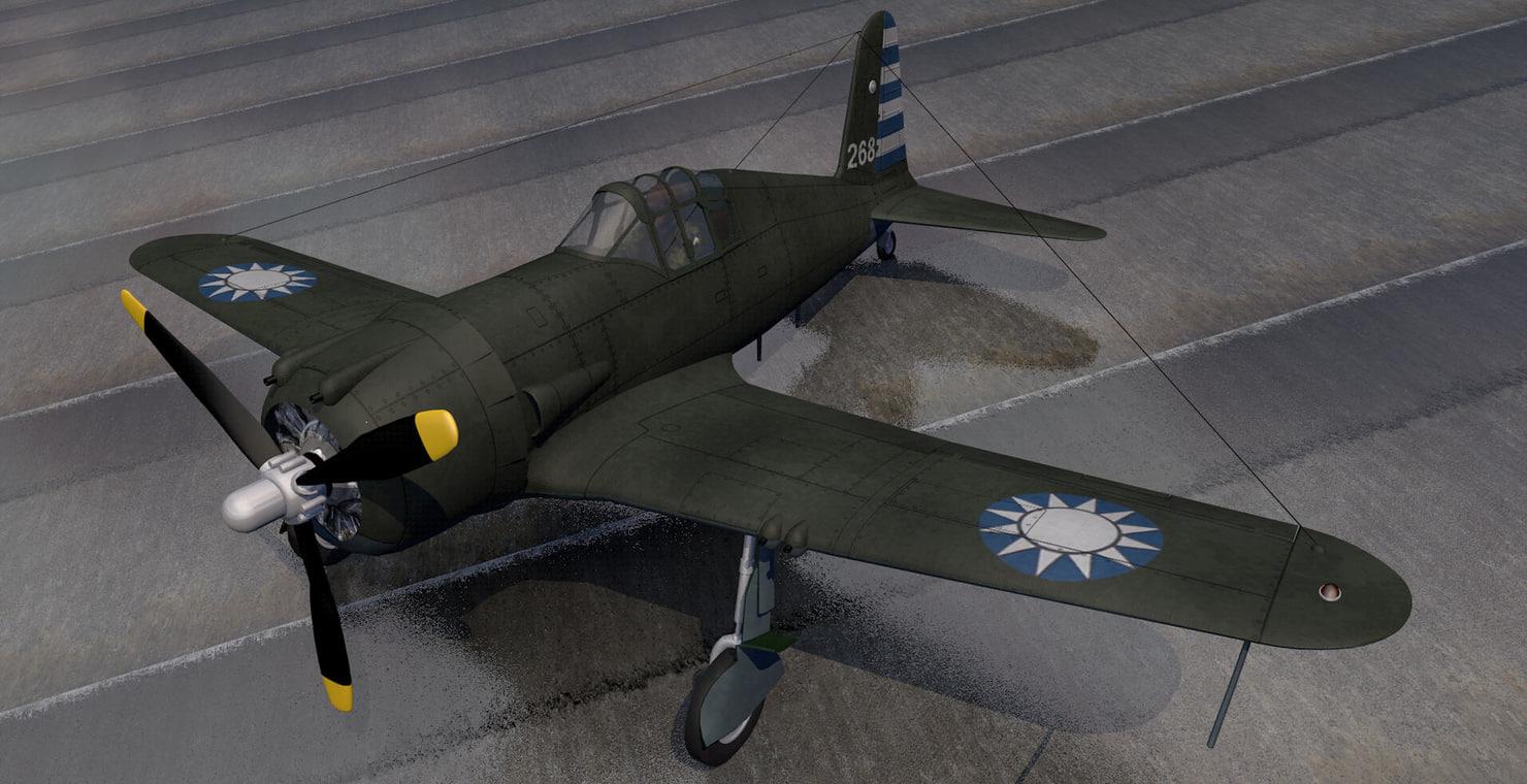 3d vultee p-66 vanguard fighter aircraft