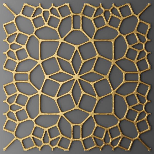 3d panel lattice grille