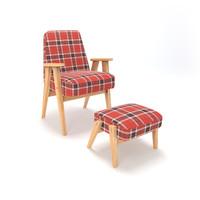 retro chair 3d 3ds