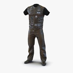3d model biker outfit 2