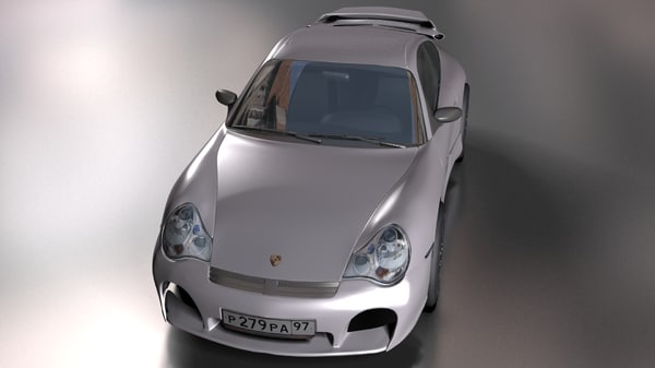 3d sport car 911
