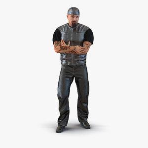 biker man generic rigged 3d max