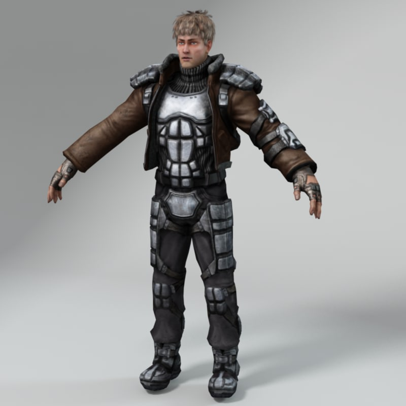 3d model sci- fi rebel