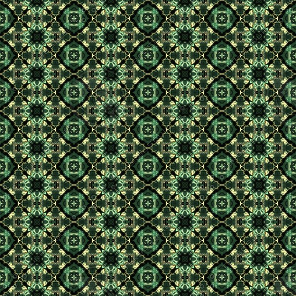 Abstract Green Kaleidoscope Pattern