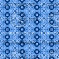 Abstract Blue Kaleidoscope Pattern