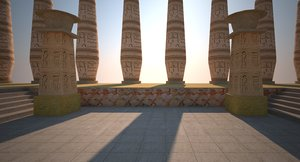 environment level : ancient egyptian 3d 3ds