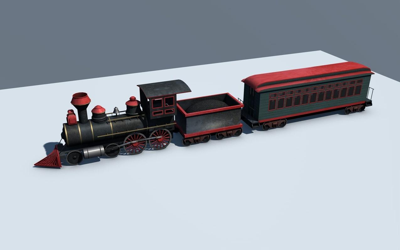 3d train steam engine